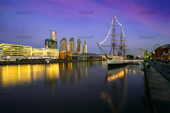 Puerto Madero at the Night, Buenos Aires, Argentina