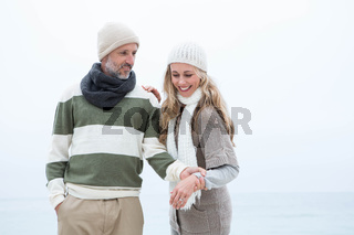 Cute couple standing together