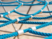 networked ropes on climbing frame