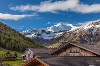 Alpine peaks and alpine huts