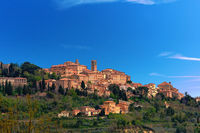Village of montepulciano in tuscany