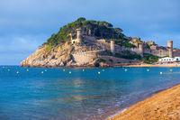 Tossa de Mar, ancient fortress Vila Vella