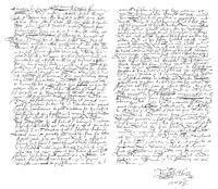 warrant of execution of Mary Stuart, by Elizabeth I