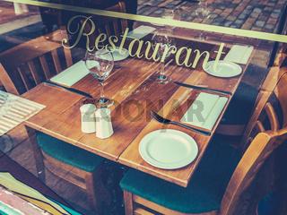 Retro Rustic Restaurant Table