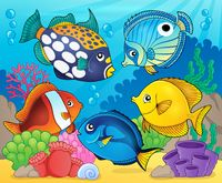 Coral reef fish theme image 8 - picture illustration.