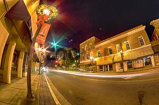 night scenes around olde york white rose city south carolina