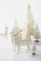 Vintage reindeer ornaments for christmas decorating