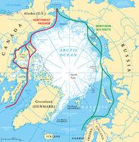 Arctic Ocean Sea Routes Map