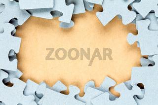 Blue jigsaw frame.