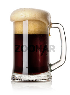 Mug of black beer