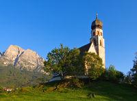St. Konstantin mit Schlern - church St. Konstantin and mountain Schlern