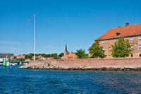 Castle Sönderborg as on the Danish island