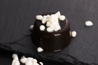 coffee with milk drops - molecular gastronomy