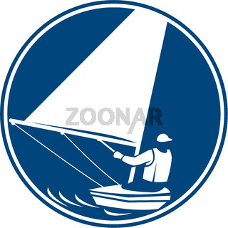 Sailing Yachting Circle Icon