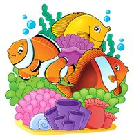 Coral reef fish theme image 6 - picture illustration.