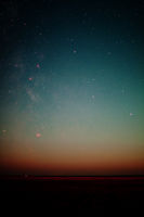 Nightsky over St. Peter-Ording in Germany