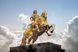 der goldene reiter dresden reiterdenkmal