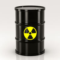 black radioactive barrel