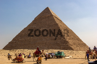 Pyramid of Cheops Cairo Egypt Africa