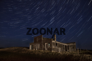 Star Trails Night Photography Abandoned Building