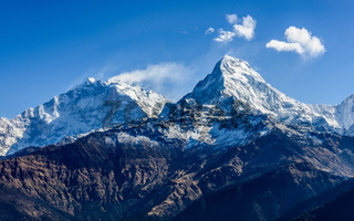 The Machhapuchare ( Fish Tail ) in Nepal