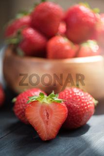 Fresh ripe strawberry