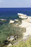 Rocky Coastline on Gozo, Malta, Mediterranean Sea