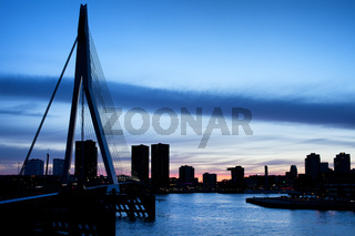 City of Rotterdam Skyline Silhouette