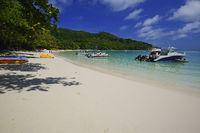 Bucht des Baie Ternay Marine Nationalpark, Insel Mahe, Seychelle