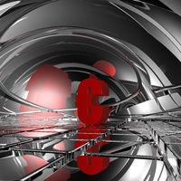 eurosymbol in futuristischer umgebung - 3d illustration
