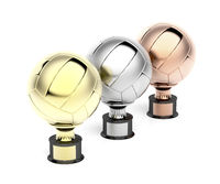 Volleyball trophies on white