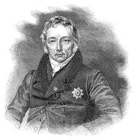 Friedrich Christian Adolf von Motz, 1775 - 1830, a Prussian statesman