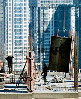 Construction site in progress