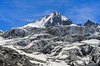 Glacier du Tour with peak Aiguille du Chardonnet, Chamonix, Haute-Savoie, France