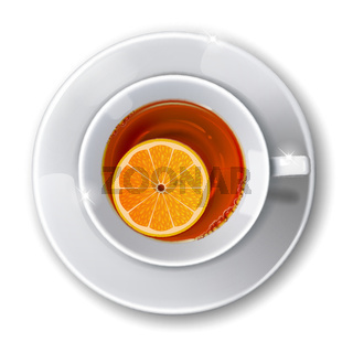 Cup with tea