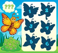 Butterfly riddle theme image 4 - picture illustration.