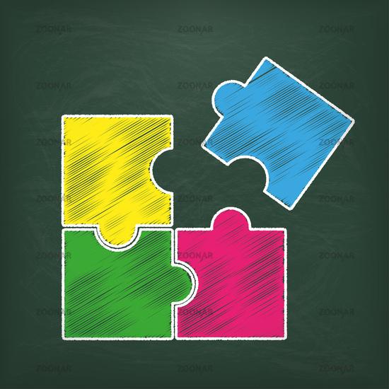 Blackboard Rectangle Puzzle
