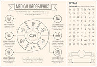 Medical Line Design Infographic Template