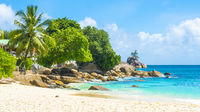 Beautiful tropical beach in Seychelles