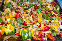 Food - meat and bell pepper