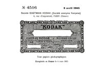 Historical trademark for Kodak photo paper from 1905