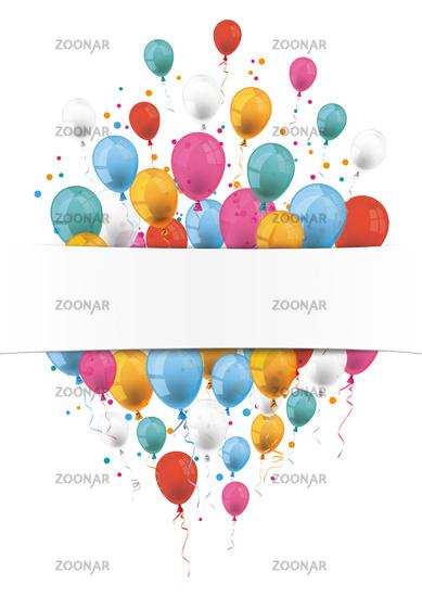Oblong Flyer White Banner Balloons