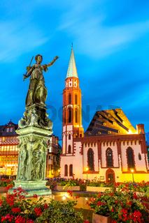 Town square romerberg Frankfurt Germany