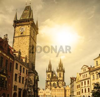 Prague under sunlight.