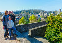 Family on spring holidays in France.