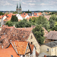 Panoramic view of Quedlinburg