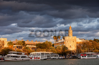 City of Seville at Sunset