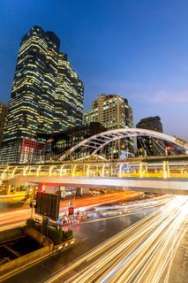 Bangkok downtown skylines