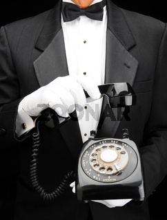 Butler with Dial Phone