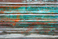 Weathered green planks. Background picture made of old green wood boards